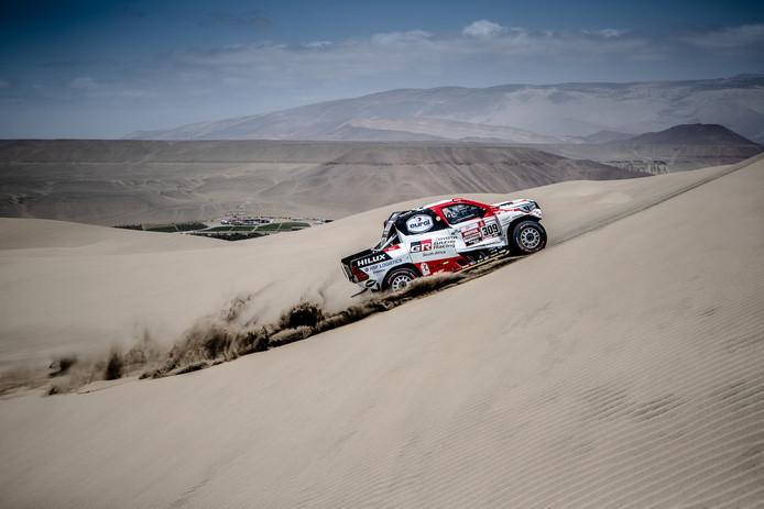 Bernhard ten Brinke kende dinsdag grote problemen in Dakar en viel uit.