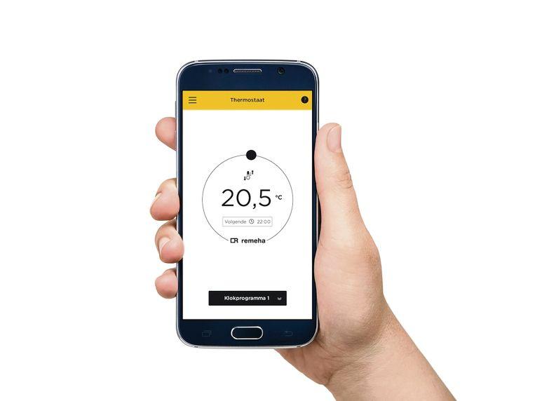 Via een simpele app op je smartphone of tablet regel je jouw verwarming vanuit je zetel, bed of bad.