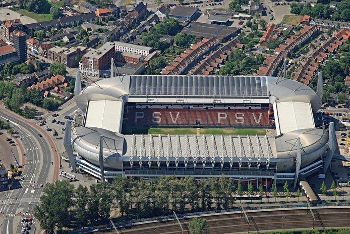 Het Philips Stadion, de thuishaven van PSV