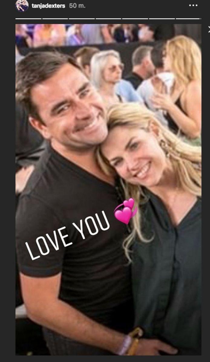 Tanja Dexters (42) en haar vriend Michaël Peeters (40).