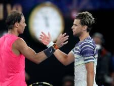 Nadal verrassend onderuit tegen Thiem in kwartfinale Australian Open
