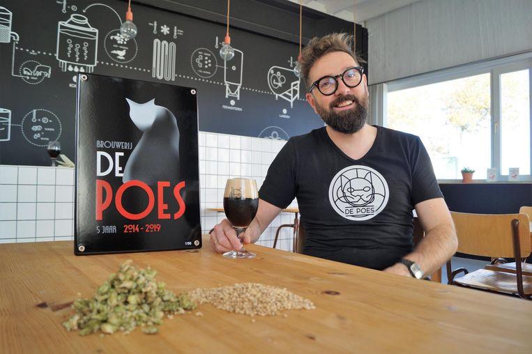 Brouwer Stijn David van brouwerij De Poes.