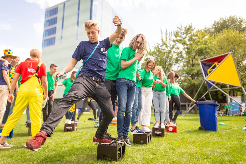 Aankomende studenten tijdens de introductie in Eindhoven.