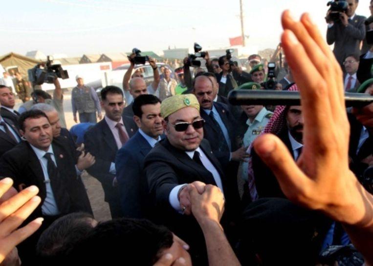 null Beeld Koning Mohammed VI op archiefbeeld. EPA