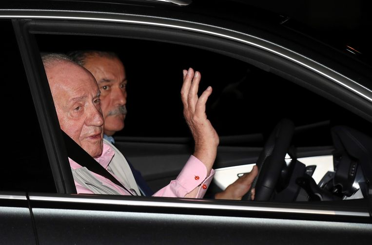 Juan Carlos werd gisteren in het ziekenhuis opgenomen.
