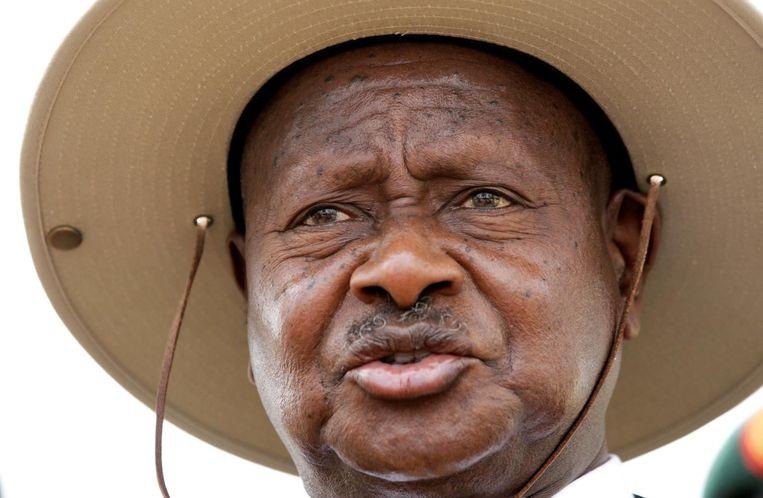 Yoweri Museveni (Oeganda) Beeld reuters
