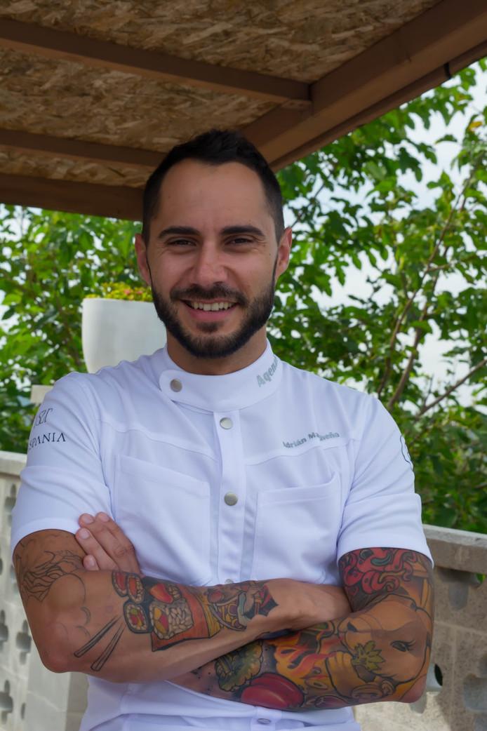 Le Chef cuisinier Adrian Mancheño.