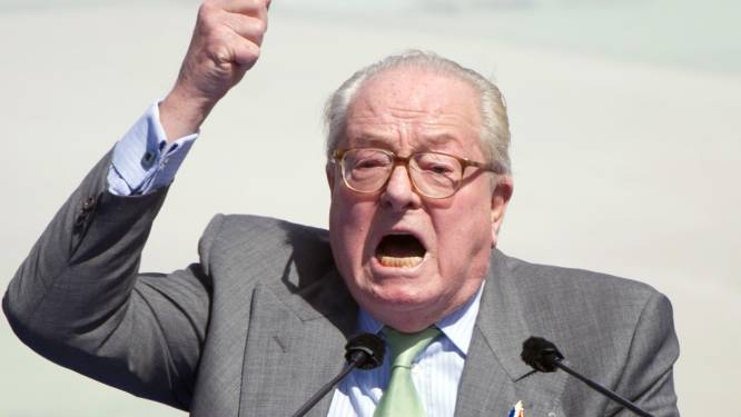 Jean-Marie Le Pen tweet foto van dochter met tekst 'Keep calm and vote Le Pen'