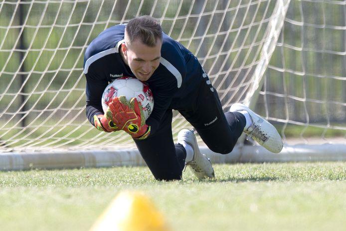 Jeroen Houwen op de training bij Go Ahead Eagles.