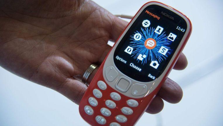 De nieuwe Nokia 3310. Beeld AFP