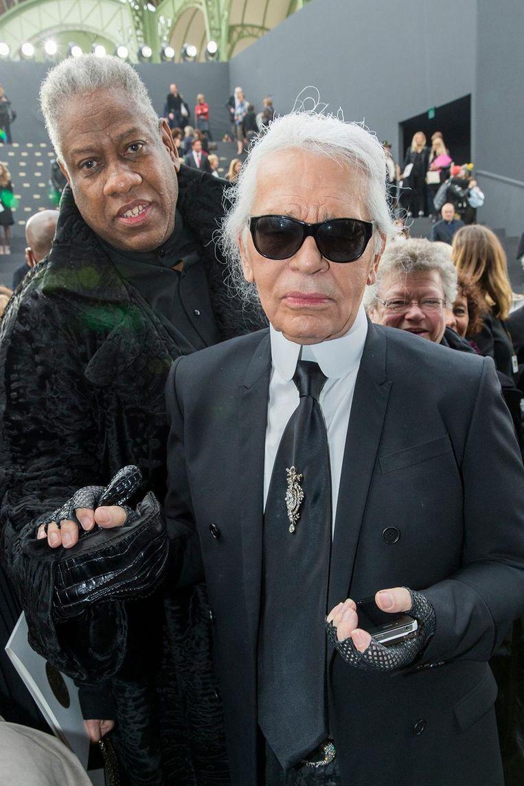 Met Karl Lagerfeld. Beeld getty