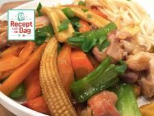 Recept van de dag: Kipwokschotel met udon noodles