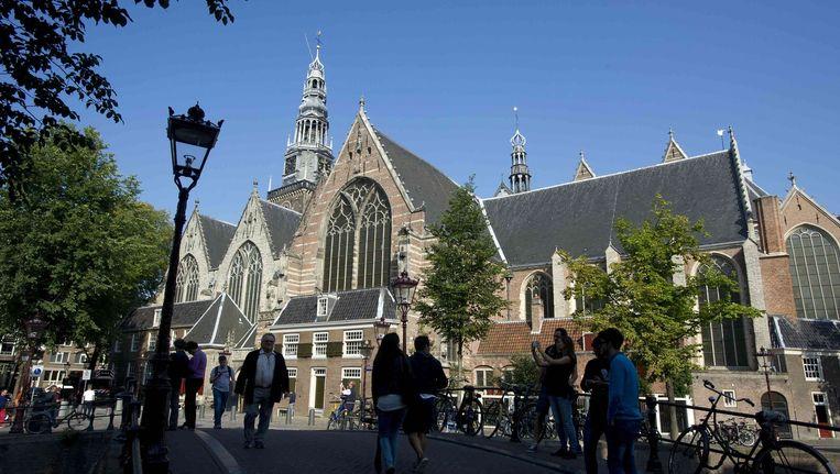 Vanaf deze week wordt ook het kerkorgel van de Oude Kerk onder handen genomen. Beeld ANP