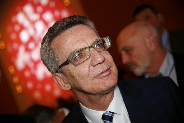 Minister van binnenlandse zaken van Duitsland, Thomas de Maizière: Oppassen voor algemeen wantrouwen richting alle vluchtelingen en migranten. Beeld reuters