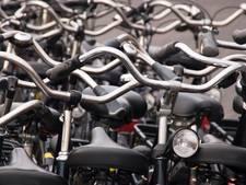 Tijdelijke bovengrondse fietsenstalling aan Hooikade