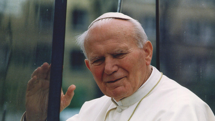 De in 2005 overleden paus Johannes Paulus II.
