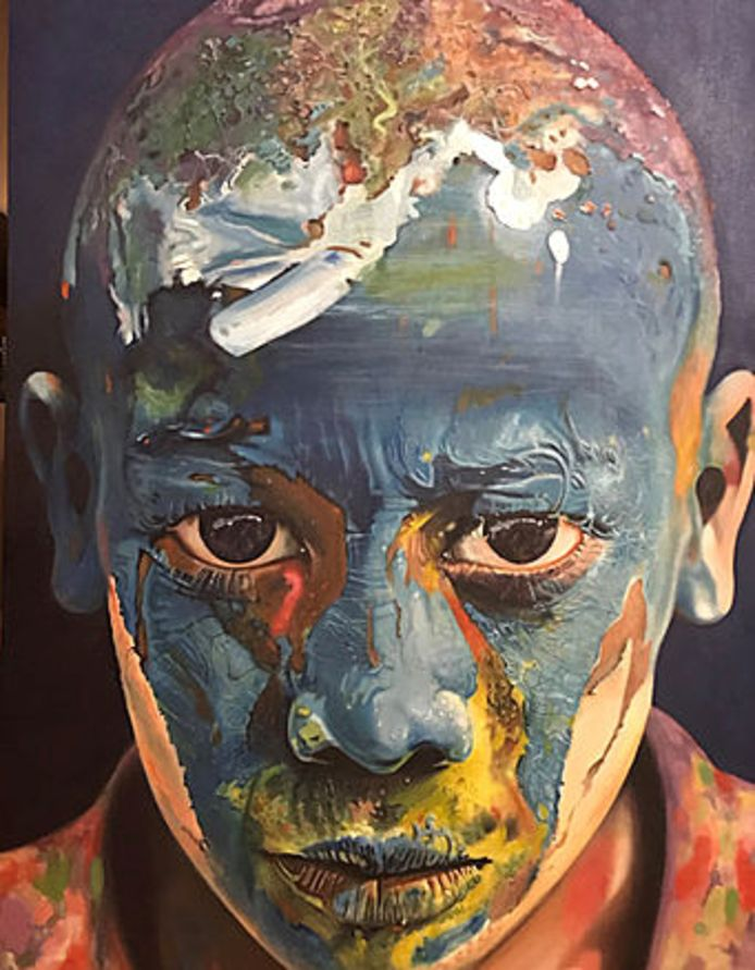 El Niño (Het blauwe kind) van de Spaanse schilder Jukka Mompo Madrigal.