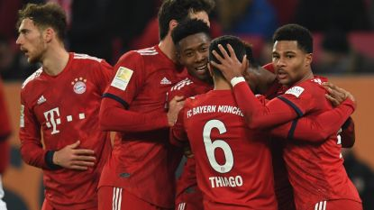 FT buitenland (15/02). Bayern moeizaam langs Augsburg - Kabasele met Watford naar kwartfinale FA Cup