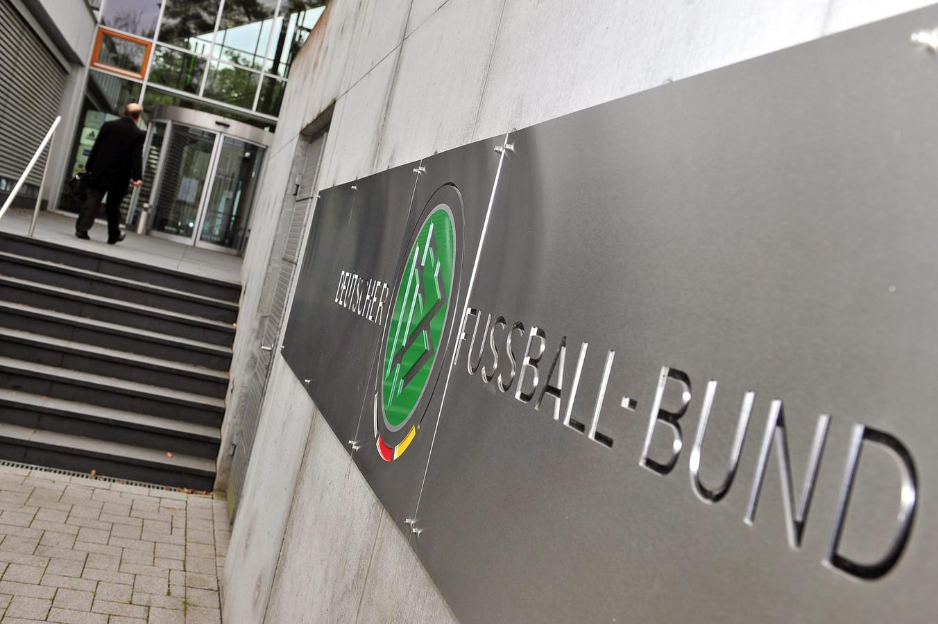 Het hoofdkantoor van de Duitse voetbalbond in Frankfurt.