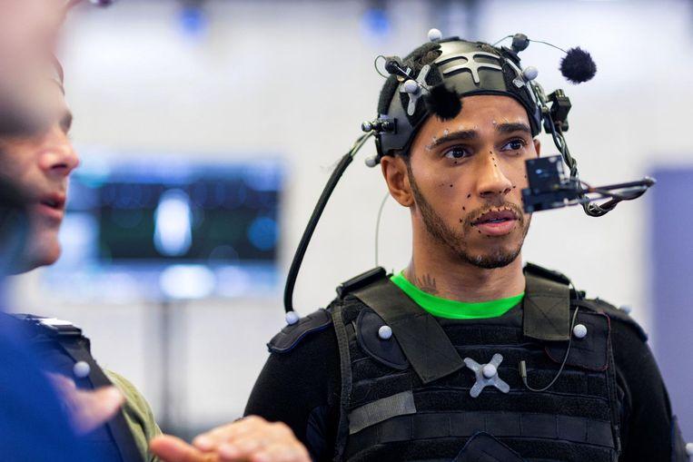 Hamilton in motion capture. Beeld Kevin Weinstein