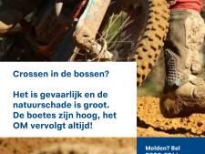 Boete voor wildcrossers loopt in Beek op met een dwangsom van 500 euro