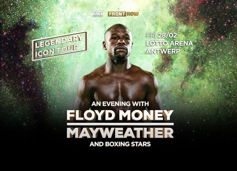Floyd Mayweather komt naar België.