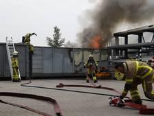 Containerbrand zorgt voor rookpluim in Wezep