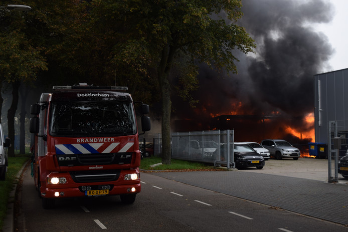 De brand in Doetinchem.