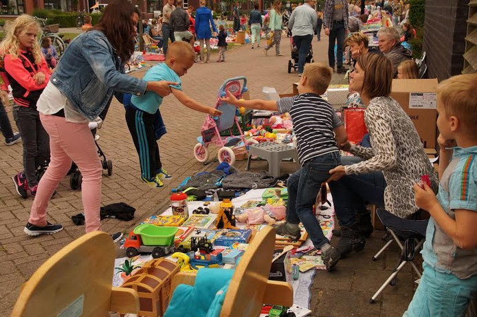 Dit jaar is de achtste editie van de kleedjesmarkt voor kinderen in Het Onderdijks.