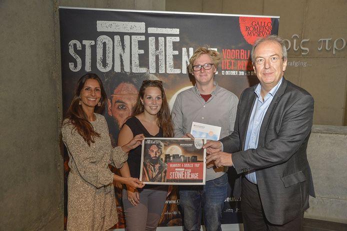 Jonas Van De Sande uit het Antwerpse Herselt won de wedstrijd,  die naar aanleiding van de expo 'Stonehenge, het mysterie voorbij' werd gehouden.