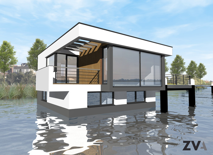 Waterwoning in Woerden .