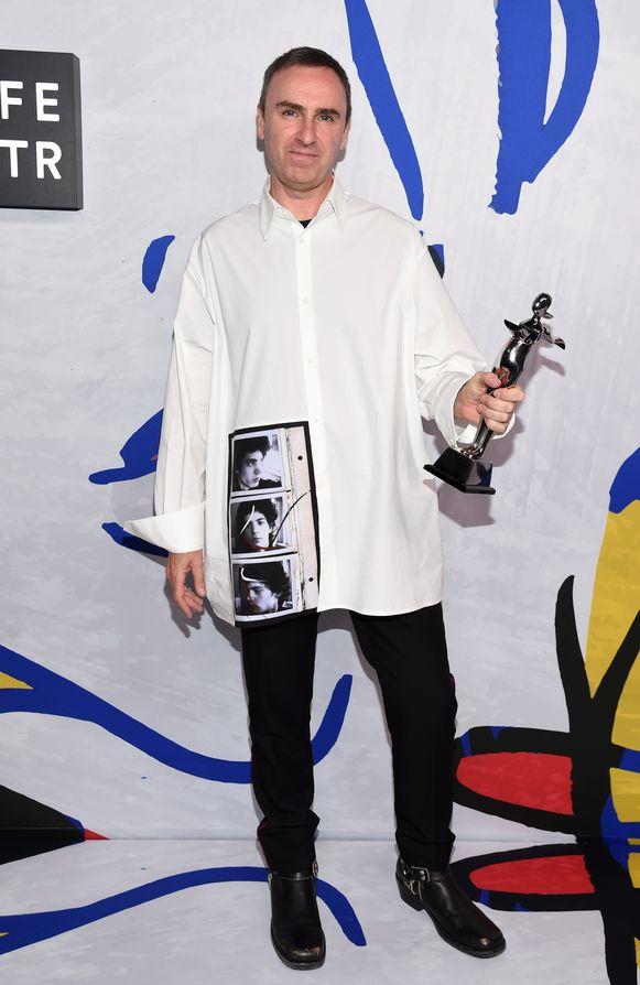Raf Simons op de CFDA Fashion Awards