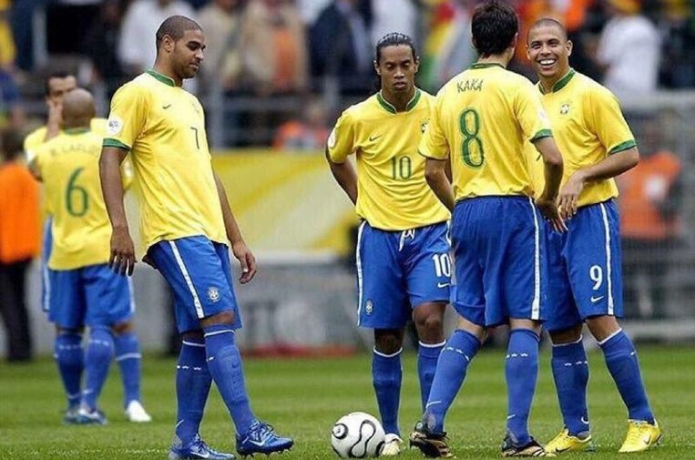 Thierry Henry bezegelde in 2006 het WK-lot van het gouden vierkant met Adriano, Ronaldinho, Ronaldo en Kaka.