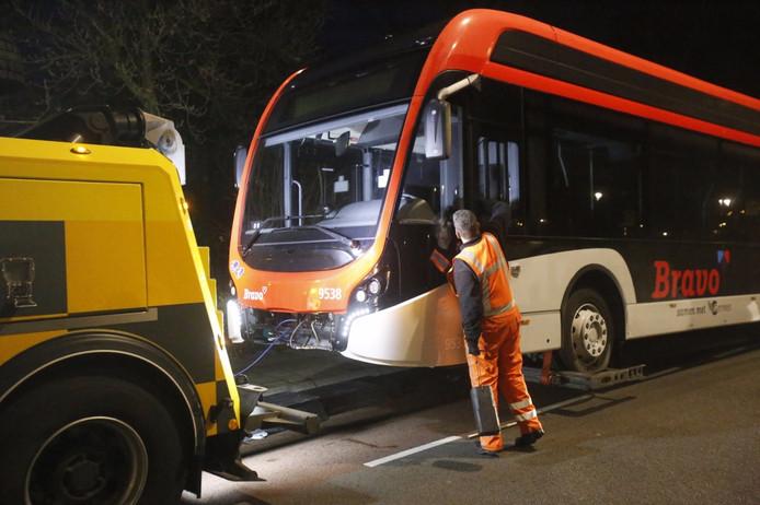 Weer viel een elektrische stadsbus uit.