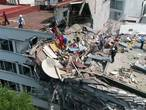 Schade Mexico-Stad goed te zien op nieuwe dronebeelden