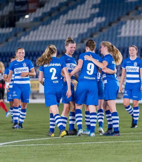 Vrouwen PEC Zwolle op eerste speeldag tegen ADO Den Haag