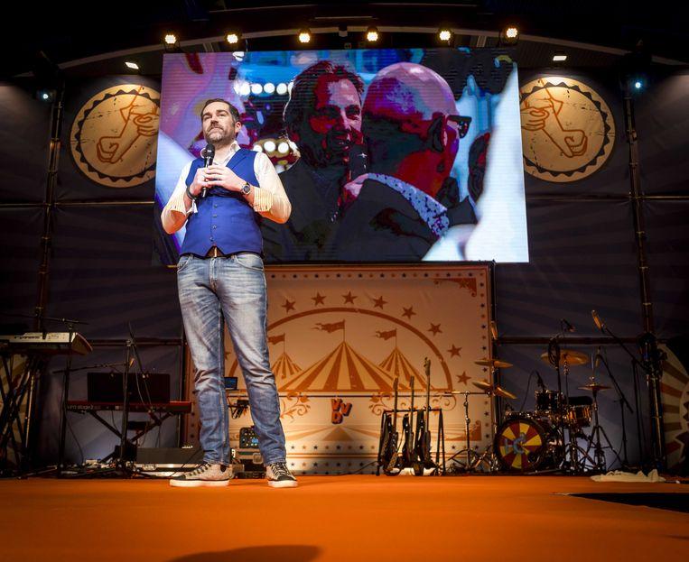 Klaas Dijkhof tijdens het najaarscongres van de VVD. Beeld ANP