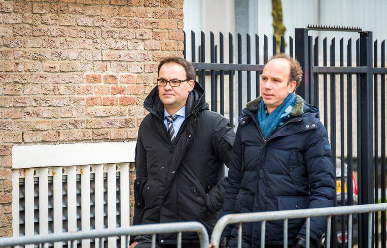 De advocaten van Willem Holleeder, Sander Janssen en Robert Malewicz. Beeld anp