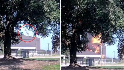 Dashcambeeld toont bizarre vliegtuigcrash