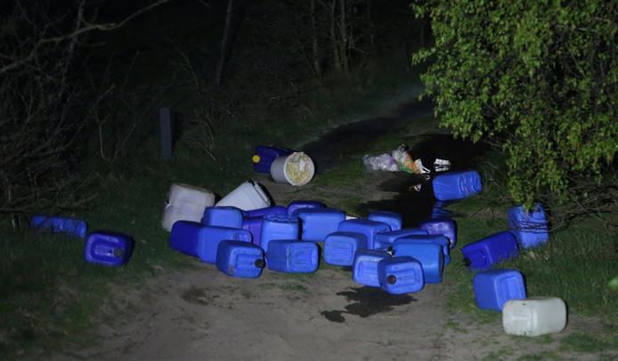 Tientallen vaten met drugsafval werden in april van dit jaar aangetroffen in de Vlagheide bij Schijndel.