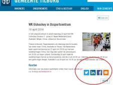 'Haal Facebook-knoppen van website gemeente Tilburg'