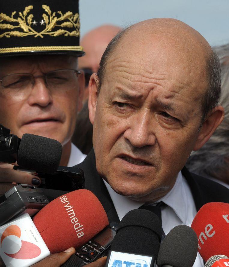 De Franse minister van Defensie Le Drian. Beeld afp
