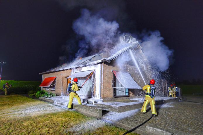 Woningbrand Weebosserweg Bergeijk.