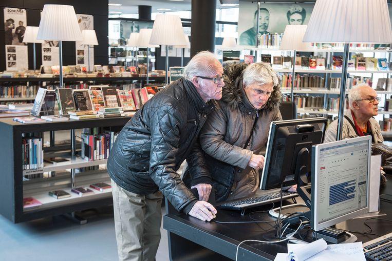 De Nieuwe Bibliotheek van Almere.  Beeld Guus Dubbelman / de Volkskrant