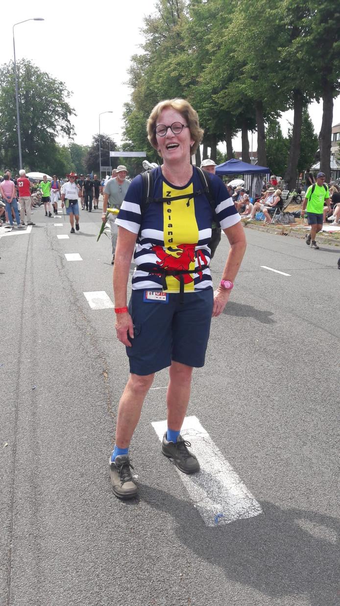 Gery Blok (65) uit Heinkenszand heeft de vijftig kilometer gelopen.