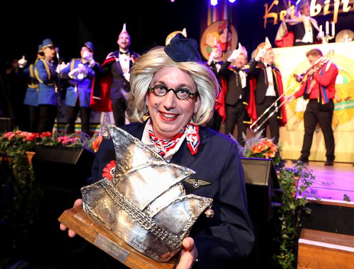 Boy Jansen won vorig jaar de Zilveren Narrenkap. Dit jaar ontbreekt hij bij het Keiekletstoernooi in Helmond.