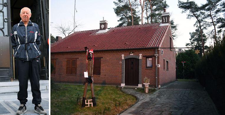 Het 'nazihuis' van Georges Boeckstaens in Keerbergen.
