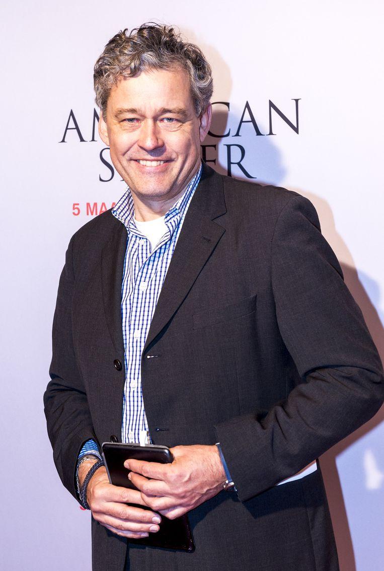 Charles Groenhuijsen op de rode loper tijdens de premiere van American Sniper. Beeld anp