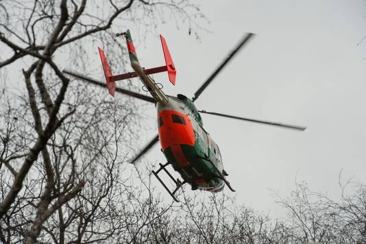 Foto van een Duitse politiehelikopter ter illustratie.
