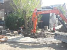 Waterlekkage aan de Mauvestraat in Zwijndrecht, 78 huizen zonder water